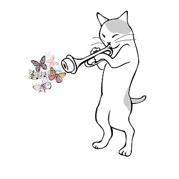 Jazz Cat Playing Trumpet  by SithJedi