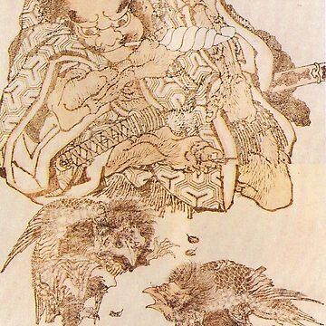 'Exodus' by Katsushika Hokusai (Reproduction) by RozAbellera