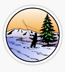 fly fishing Sticker