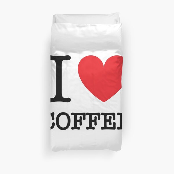 I HEART COFFEE Duvet Cover