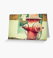 Addiction to Firehydrants Greeting Card