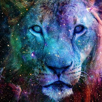 Galaxy Lion Colorful Face by LemoBoy