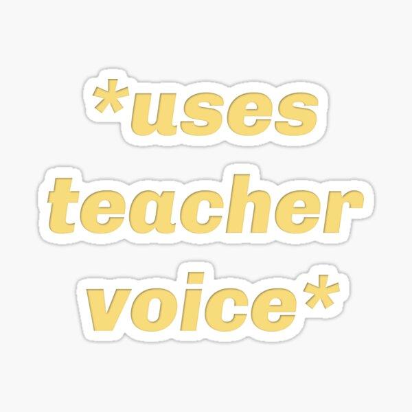 Lehrerstimme Sticker