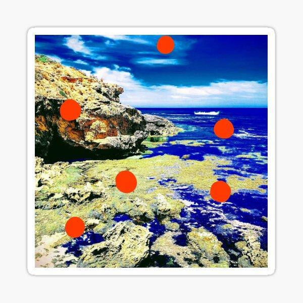 Red Dot Landscape  Sticker