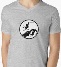 skiing 2 Men's V-Neck T-Shirt