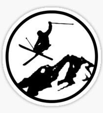 skiing 2 Sticker
