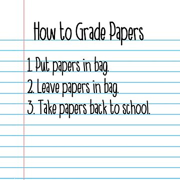 How to Grade Papers Teacher Tote Bag by fishbiscuit