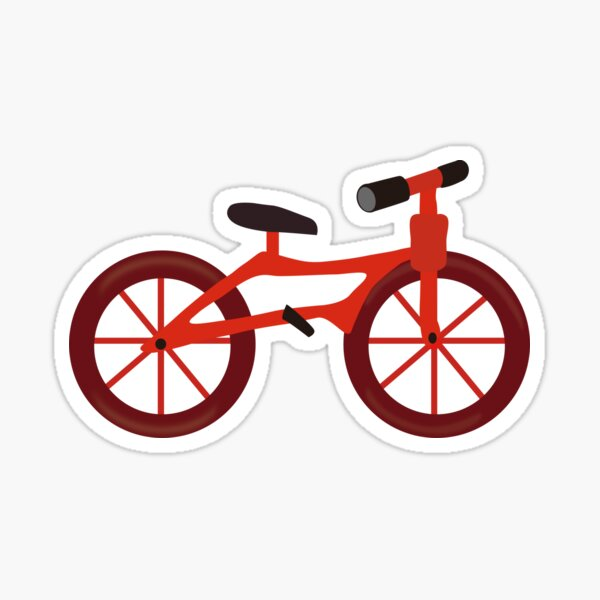 Bicycle Clipart Stickers Redbubble
