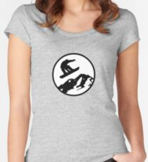 snowboarding 2 Women's Fitted Scoop T-Shirt