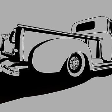 Chevy 3100 Pickup 2 - stylized monochrome by mal-photography