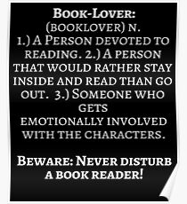 Book Lover Definition For Book Worms  Poster