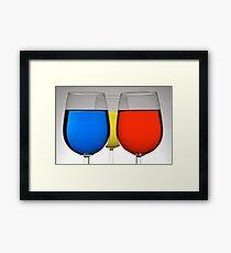 Tri-Color Framed Print