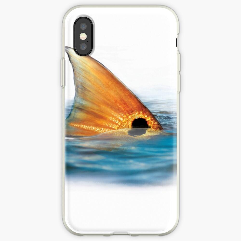 Cola de pescado rojo Funda y vinilo para iPhone