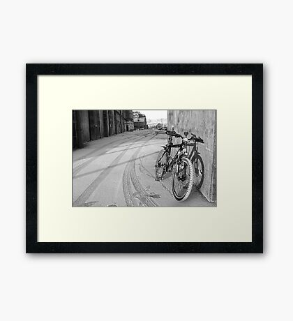 space for one's bike Framed Print