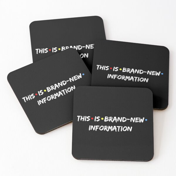 This is brand-new information Black - Phoebe Buffay Coasters (Set of 4)