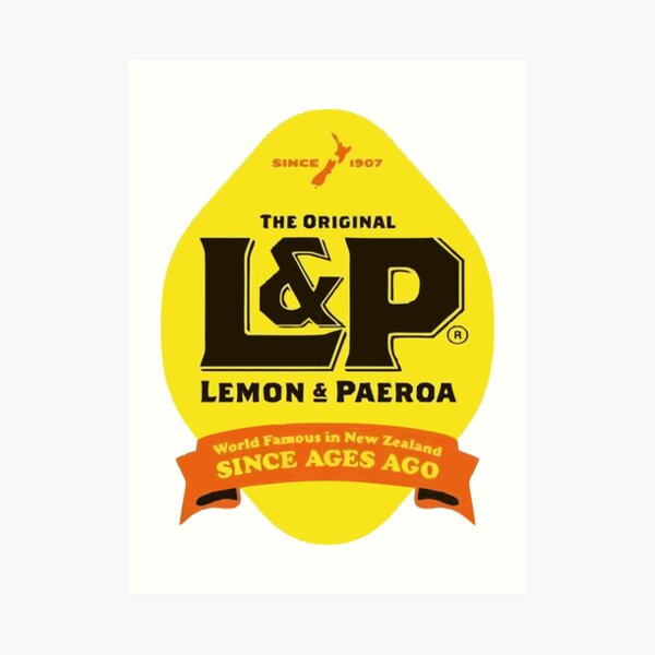 Lemon and Paeroa Art Print