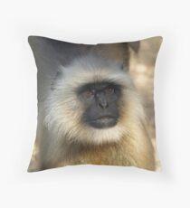 Portrait of a Langur  Throw Pillow