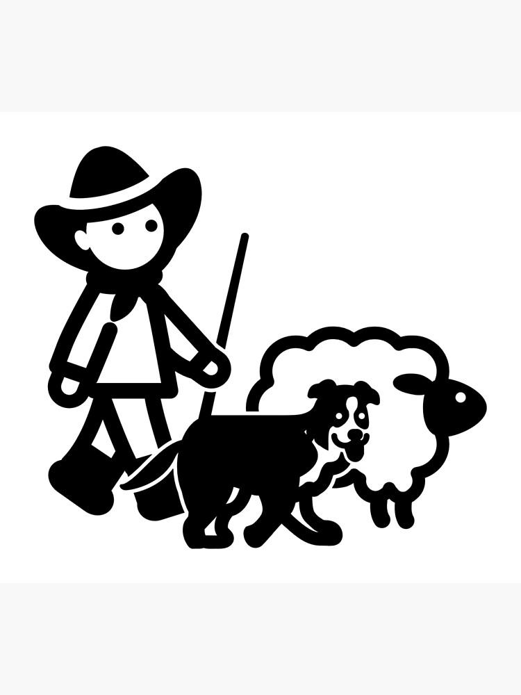 Farm Sheep Shepherd Clipart by AaronIsBack
