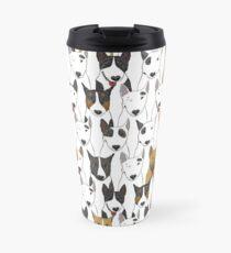 Funny bull terriers pattern Travel Mug