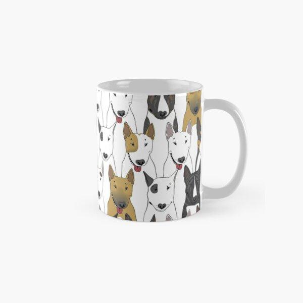 Funny bull terriers pattern Classic Mug