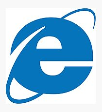internet explorer Photographic Print