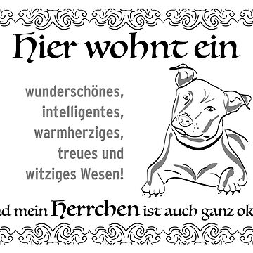 Gift idea for dog owners, for inauguration or birthday. Dog with master - the perfect flat share! by qwerdenker