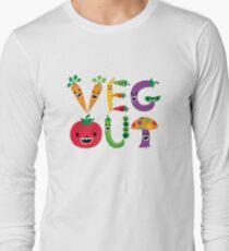 Veg Out - light colors Long Sleeve T-Shirt