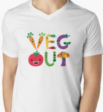 Veg Out - light colors Mens V-Neck T-Shirt
