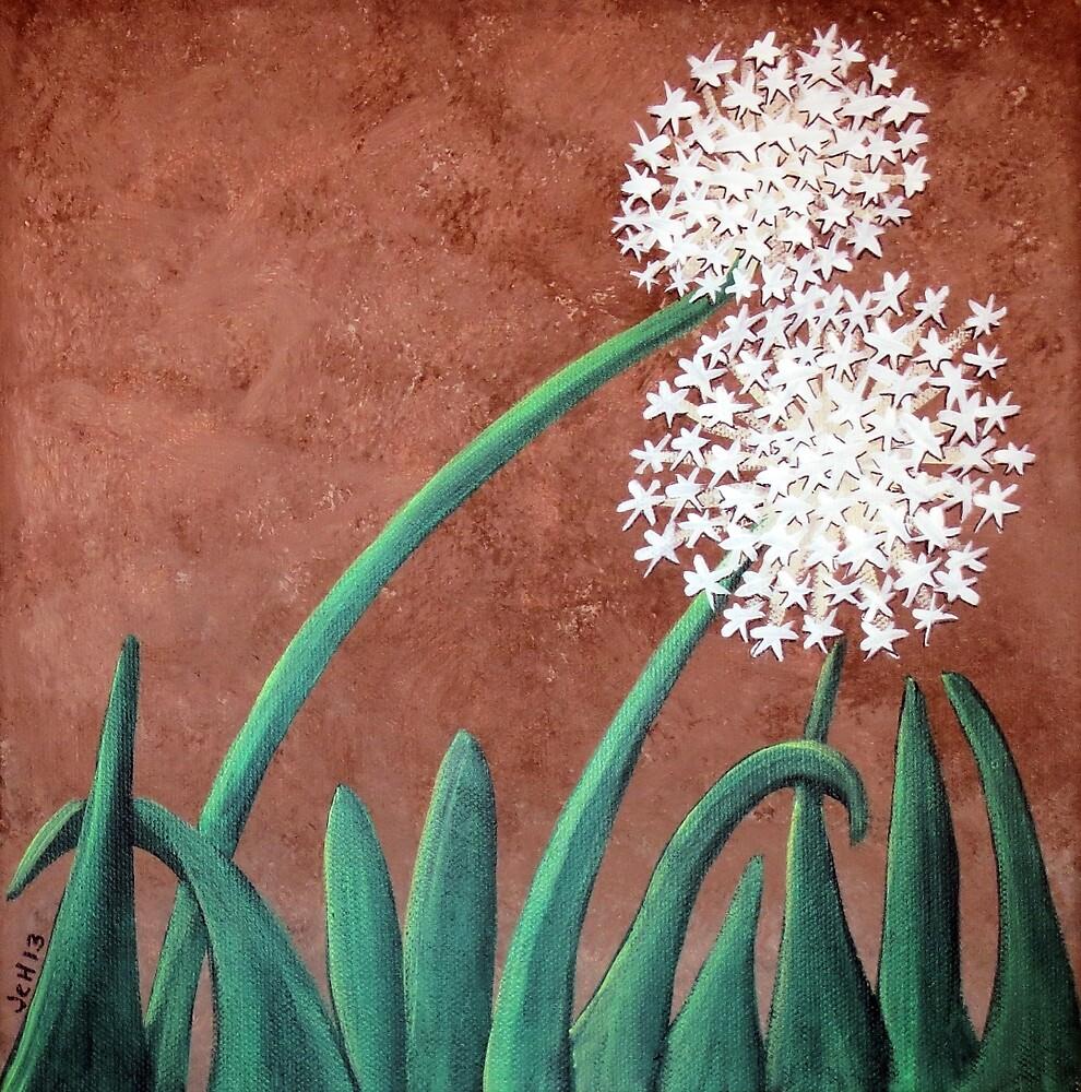 Dandelions on Chocolate by GroovyGal