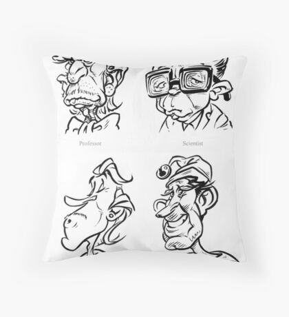 Caricature Sketches 4 Throw Pillow
