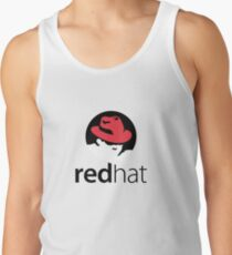 Red Hat Software Logo Sticker Tank Top