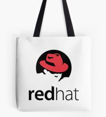 Red Hat Software Logo Sticker Tote Bag