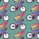Bicycle Squid - Mountain Biker by kikoeart