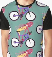 Bicycle Squid - Mountain Biker Graphic T-Shirt