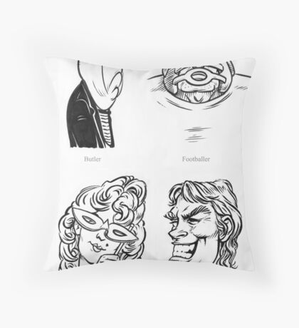 Caricature Sketches 2 Throw Pillow