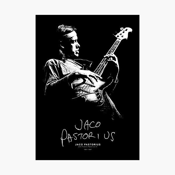 Jaco - Jazz - Fretless Bass - Musician - Music Photographic Print