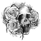 Weeping Skull and Roses by Holley-Ryan
