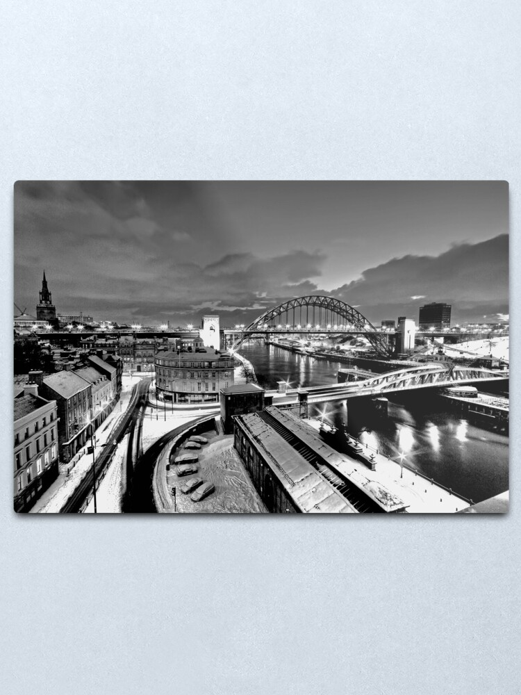 Alternate view of Newcastle Quayside - a winters morn Metal Print