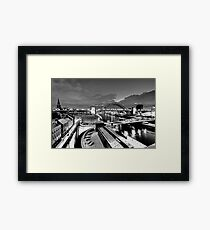 Newcastle Quayside - a winters morn Framed Print