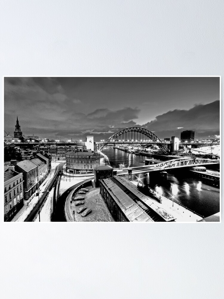 Alternate view of Newcastle Quayside - a winters morn Poster