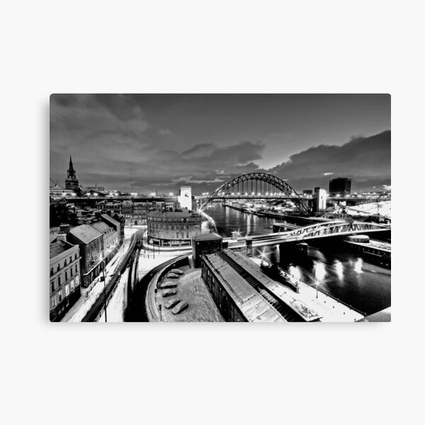 Newcastle Quayside - a winters morn Canvas Print