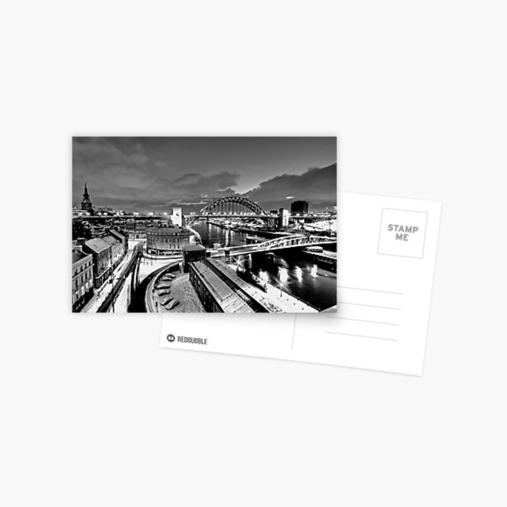 Newcastle Quayside - a winters morn Postcard