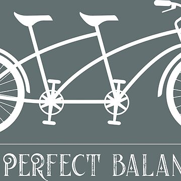 In Perfect Balance Two-Wheeler Tandem Bike Graphic by CreativeTwins