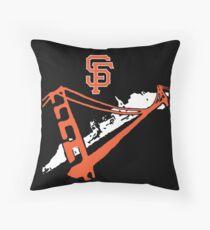 San Francisco Giants Stencil White Throw Pillow