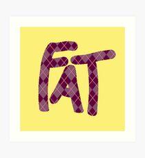 Fat Argyle Style Art Print
