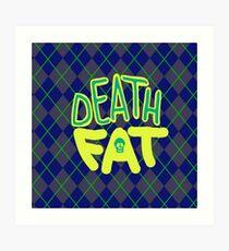 Death Fat Skull Art Print
