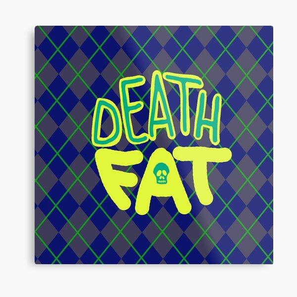 Death Fat Skull Metal Print