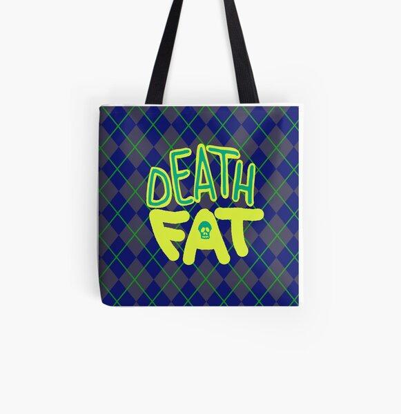 Death Fat Skull All Over Print Tote Bag