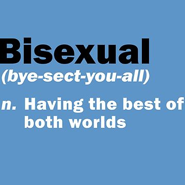 Funny Bisexual Dictionary Definition Quote Gay Saying by CreativeTwins