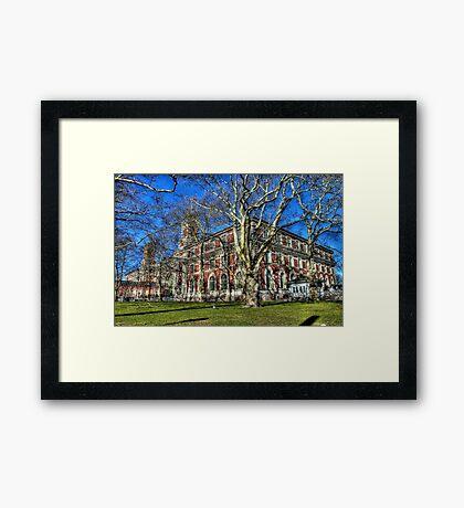 Welcome to Ellis Island Framed Print